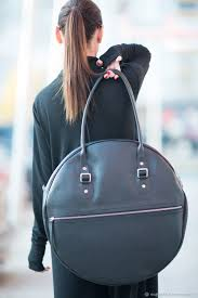 leather handbag handbag genuine leather round black bag leather bag