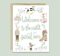 baby congratulations cards baby congratulations card by leveret paperie nursery rhyme baby