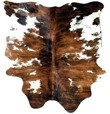 cowhide rug cow hide leather tricolor brown by real how to clean fake