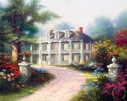 homestead house painting thomas kinkade homestead house art print