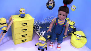 Minion Bedroom Wallpaper American Girl Doll Despicable Me Agnes Minion Bedroom Agsm Youtube