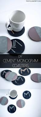 diy cement coasters and instructions monogrammed with art deco font every house needs a