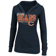 chicago bears jacket luxury chicago bears womens sd rules thermal hooded t shirt by reebok images