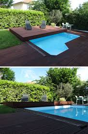 Wood Pool Deck Deck Design Idea This Raised Wood Deck Is Actually A Sliding