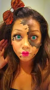 scary broken porcelain doll makeup 4k wiki wallpapers 2018 homemade creepy annabelle costume