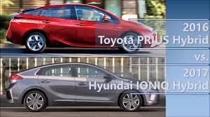 2016 Toyota PRIUS Hybrid vs 2017 Hyundai IONIQ Hybrid comparison ...