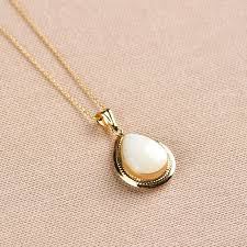 mother of pearl necklace gold necklace