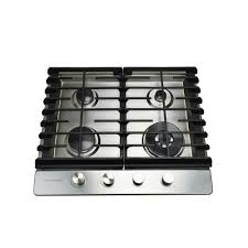 24 inch gas cooktop. Modren Cooktop Hallman 24 In Gas Cooktop In Stainless Steel With 4 Burners Including A  Tri And Inch Home Depot