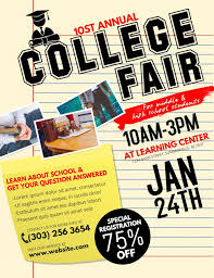 School Poster Maker College Fair And Open Day Poster And Flyer Template School