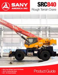 Sany Src840 Rough Terrain Crane Sany Pdf Catalogs