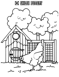 Small Picture Hen Walking Passing Chicken Coop Coloring Pages NetArt