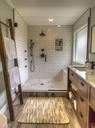 modern bathroom subway tile. Modern-bathroom Remodel-subway Tile-wood-look-tile-oil- Modern Bathroom Subway Tile