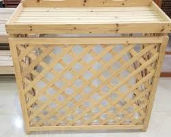 wooden cover of air conditioner external unit wooden material air condition cover