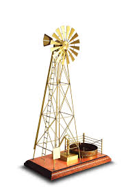 solarts big windmill w 10 solar powered model executive gift engraving 1 line