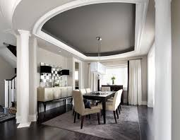 love the colors contemporary dining room w gray color scheme tray ceiling dark hardwood floors