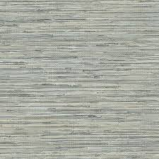 norwall blue and taupe faux vinyl grass cloth wallpaper