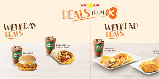 kfc singapore weekday weekend deals from 3 onwards promotion why not deals promotions