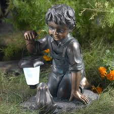 winsome house boy with solar light and frog free today 21566884