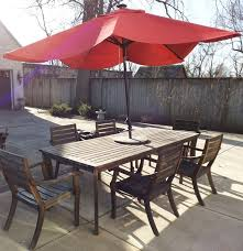 crate barrel outdoor furniture. Crate Barrel Outdoor Teak Table And Chair Set With Umbrella Ebth Random 2 Patio Furniture O