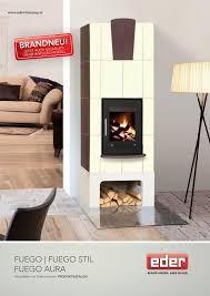 Eder Kachelofen Prospekt Fuego Fuego Stil Und Fuego Aura By