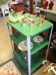 Retro Metal Kitchen Table C Dianne Zweig Kitsch N Stuff Old Metal 1950s Utility Cart