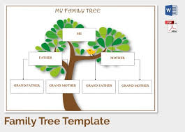 free family tree template word family tree template 37 free printable word excel pdf psd with