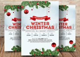 Free Christmas Poster Template Awesome Winter Wonderland