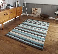 blue striped 100 acrylic rug large hand tufted hong kong mat modern design