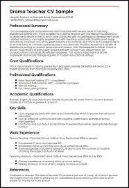 Teacher Resume Sample Fascinating Drama Teacher CV Sample MyperfectCV