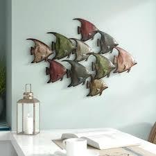fish wall decor painted metal fish wall decor
