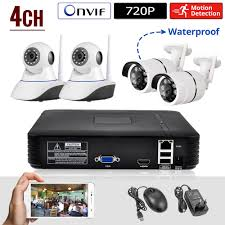 KERUI Mini NVR Full HD 4 Channel Security System IP CCTV Camera Android /ios APP Control Network Video Recorder