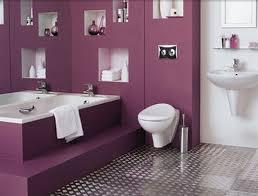 Purple Themed Bathroom Stunning Purple Wall Bathroom Ideas With White Porcelain Bathup