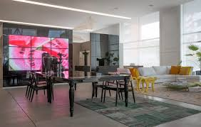 furniture showroom design ideas. living room applying bright and dark collaboration in paint furniture showroom design ideas