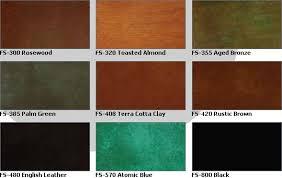 Quikrete Concrete Stain Colors Chart Chroma Tech Acid Stains