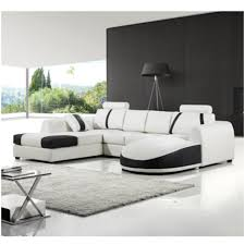 White Sectional Living Room Interior Black And White Sofa Design Contemporary White