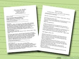 How To Make A Resume Delectable 28 Ways To Make A Resume WikiHow