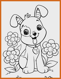 printable cute puppy coloring pages