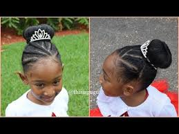 natural hair kids protective hairstyle