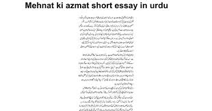 mehnat ki azmat short essay in urdu google docs