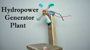 how to make hydro power generator plant working model for school project water turbine dam