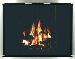 fireplace screen and glass doors with screens door home depot or brass fire