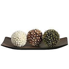 Decorative Ball Bowl Beauteous Amazon Hosley Decorative BowlTray And Floral OrbBall Set For
