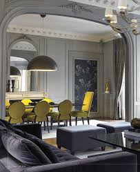gray e with yellow dining chairs