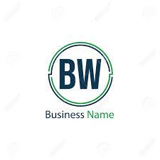 Bw Design Initial Letter Bw Logo Template Design