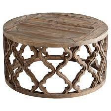 hiru global rustic wood medallion round