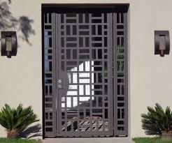 Custom Made Custom Contemporary Metal Entry Gate Panels Steel Iron