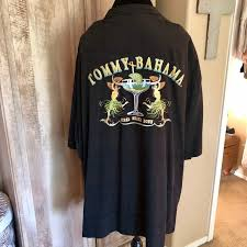 Tommy Bahama Black Silk Camp Shirt 3xb