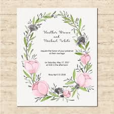 Cute Wedding Card With A Floral Frame Vector Free Download