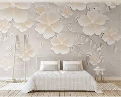 Interior Design Background Pictures Us 8 85 41 Off Beibehang Custom Wallpaper Beige Embossed Flowers 3d Bedroom Tv Interior Design Decoration Background Wall 3d Wallpaper Murals In