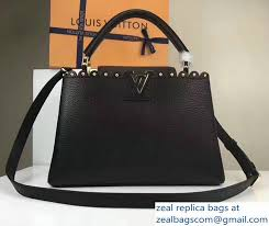 louis vuitton bags 2017 black. louis vuitton grained capucines pm bag with chiseled edges m54565 black 2017 bags s